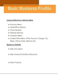 Company Bio Template Extraordinary Free Company Profile Template Doc Business Profile Format Free Words
