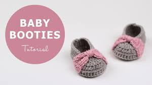 Crochet Baby Shoes Pattern Inspiration How To Crochet Baby Booties Croby Patterns YouTube