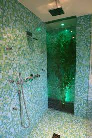 bathroom glass floor tiles. 42 Inspiring Tropical Bathroom Décor Ideas : Amazing With White Blue Wall Flooring And Glass Shower Plant Floor Tiles O