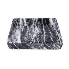 Keramik Tablett Marmor Motiv Schwarz