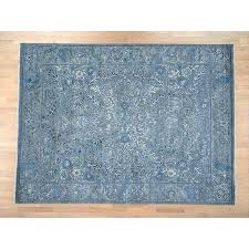 hand knotted teal modern amp contemporary with wool silk oriental rug 9 area