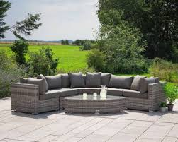 grey 6 piece angled corner sofa set