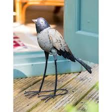 long tailed decoupage garden bird