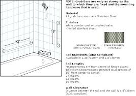 ada vertical shower grab bar height where to place bars in stall placement imag