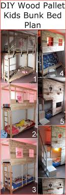 DIY Wood Pallet Kids Bunk Bed Plan