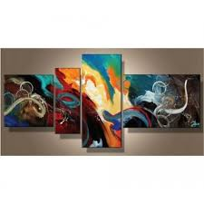 Tableau art deco aux couleurs caligineuses sur toile. Achat / vente ...
