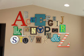 alphabet wall for playroom nursery or kids room by thrive 360 living