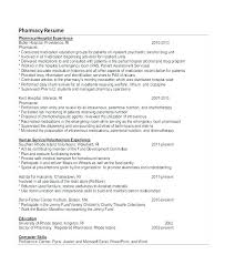 Example Of Pharmacist Resume Pharmacist Resume Sample Sample