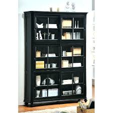 black bookcase with glass doors bookcases have to it wood sliding