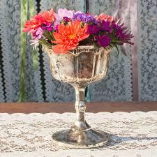 table decor mercury glass compote w pedestal base 6 5 in tall silver copper com