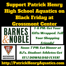 phhs aquatics barnes and le giftwrapping and bj s restaurant fundraiser 11 28 14