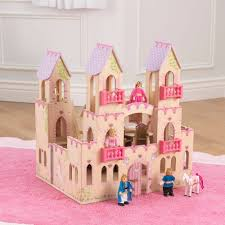 KidKraft Princess Castle Wooden Dollhouse with 14 Play Pieces - Walmart.com