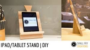 ipad stand tablet stand diy