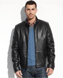 tommy hilfiger jacket leather barracuda jacket