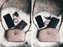 gucci marmont. dtkaustin shares the size comparison for gucci mini and small marmont crossbody. if you