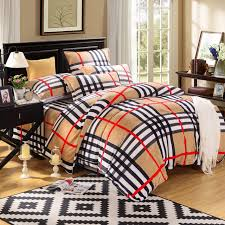 modern bed linen plaid duvet covers king size striped bed sheets cotton queen size bedding sets