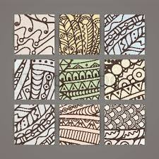 Intricate Patterns Gorgeous Set Of Four Vector Pastel Intricate Patterns Doodle Zentangle