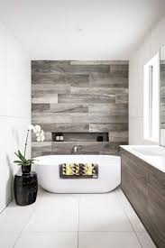 Stylish Bathroom Wood Accents