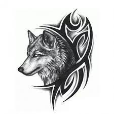 Dočasné Tetování Tribal S Vlkem Poštovnézdarmacz
