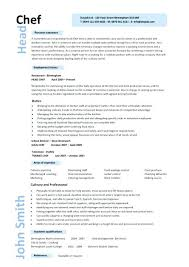 chef resume templates head chef resume 8 cook resume templates
