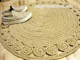 rug braided rug round crochet rug handmade rug unique no 035 jute rug braided rug round crochet rug handmade rug unique no 035