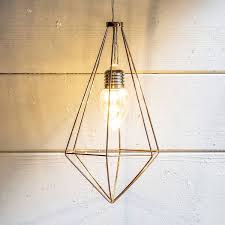 battery copper geometric diamond led pendant light from our novelty decorative lighting range at tesco direct