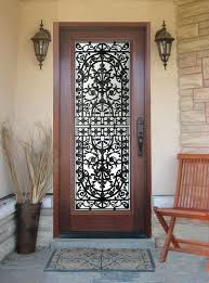 wood front doors with glass and wrought iron door staggering remodel ideas 6
