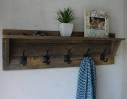 Wood Coat Rack With Shelf