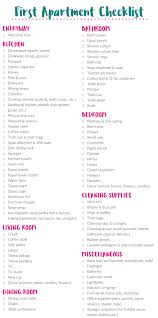 New Apartment Checklist Moving Into Your First Apartment What You Need 20