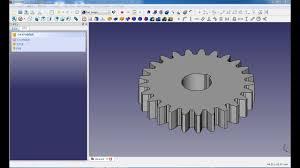 Freecad Gear Design Freecad Mechanical Drawing Gear