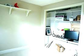 closet into office. Turn Closet Into Bedroom Turning A Spare An Office  .