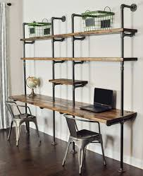 Pipe Desk Design 49 Wall Mounted Desks Built With Pipe Simplified Building