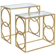 Ballard Designs Kendall Side Table Worlds Away Hammered Nesting Tables Set Of 2 Lee G