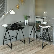 glass home office desks. Elegant L Shaped Office Desk For Your Home Design: Corner Glass Desks