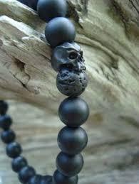 michael kors men s bradshaw watch 187 ❤ liked on polyvore mens matte onyx black lava rock cyber skull stretch beaded bracelet