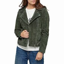 selected femme lore suede leather jacket short long sleeve