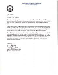 Air Force Letter Of Recommendation Example The Best Resume For You