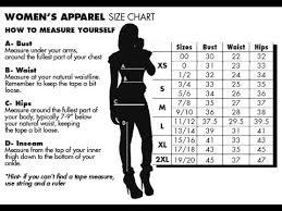 Women S Jean Size Chart Womens Pants Size Chart