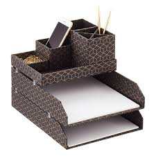 bigso hexagold stockholm desktop organizer  the container store