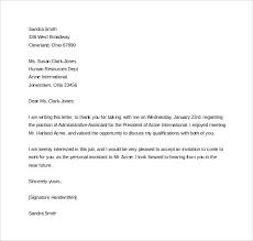Sample Email After Interview Thank You Letter Template Follow Up