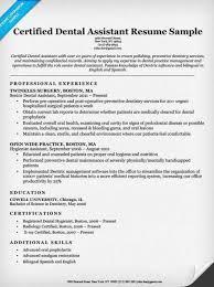 Dentist Resumes Samples Dental Assistant Student Resume Resume