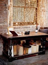 brick walls fairy lights home