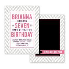 Bria Fun Birthday Invitation Card