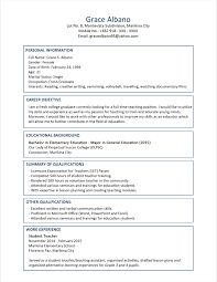 Recent College Graduate Resume Sample Free For Download College