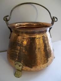 Copper Kitchen Decorations Vintage Copper Pot Bucket Cauldron Pail Old Copper Brass