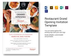Grand Opening Invitations Restaurant Grand Opening Invitation Template In Psd Word