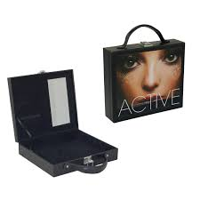 china luxury women leather cosmetic bag makeup box with mirror 5136 china cosmetic box leather cosmetic box