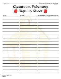 Volunteer Sign Up Sheet Template With Time Slots Srmuniv Co