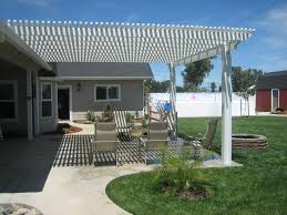 our laa lattice patio covers are a traditional pergola style patio cover and provide shade for outdoor living space while allowing refreshing breezes to