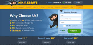 ninjaessays com review essay writing service reviews ninjaessays is a professional assignment help service a well designed website that makes a good first impression but because we ve reviewed so many